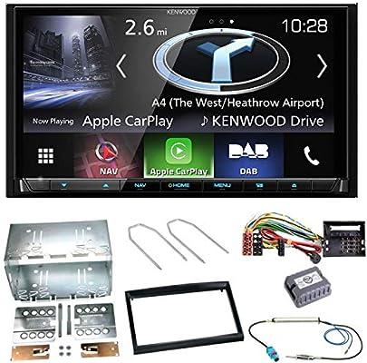Kenwood DNX-8170DABS - Sistema de navegación con Bluetooth y Manos Libres para Coche (Android CarPlay, USB, MP3, CD, DVD, Radio, navegador, Pantalla táctil, para Peugeot 207 307 Partner Expert): Amazon.es: Electrónica
