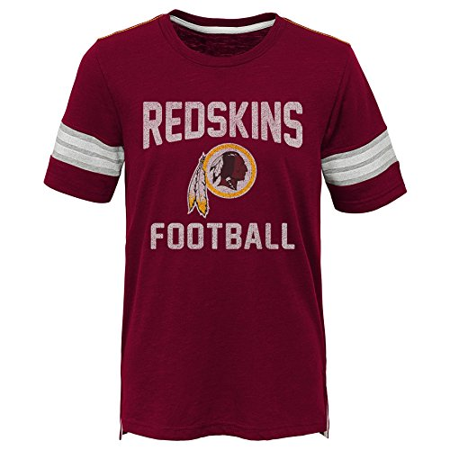 (Outerstuff NFL NFL Washington Redskins Kids Prestige Short Sleeve Crew Neck Tee Burgundy, Kids Small(4))