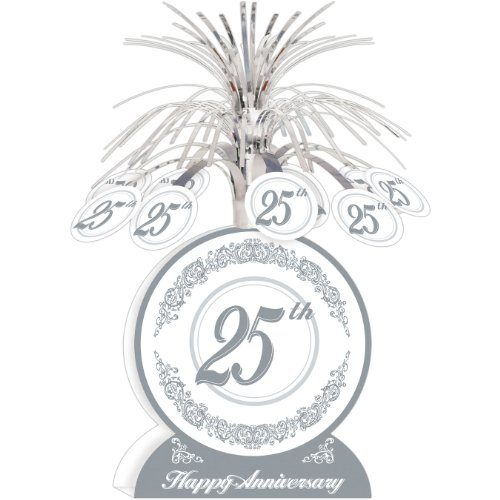 25th Anniversary Centerpiece Party Accessory (1 count) (1/Pkg)