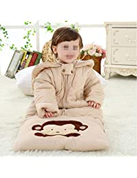 Children's Sleeping Bag Baby Comfort Cotton Long Pajamas  Cartoon Cotton Autumn and Winter One-Piece Dressing Gown Suitable for 2-5 Years Old