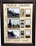 Victor Espinoza American Pharoah Autographed Signed Framed Photo 3 Winning Tickets Steiner