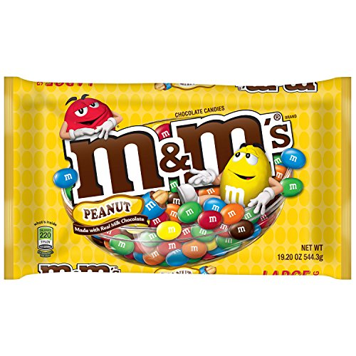 M&M'S Peanut Chocolate Candy 19.2-Ounce Bag (Gift Baskets Delivered Next Day)