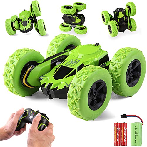 RACPNEL Remote Control Car Rc Stunt Car Toys, 4WD 2.4Ghz High Speed Racing Car, 360° Flips Double Sided Rotating Off-Road RC Trucks, Kids Toys Car for Boys and Girls