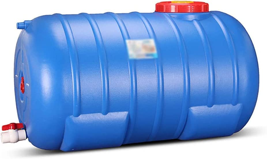 家庭用プラスチック水貯蔵タンク、大容量水平水貯蔵容器、キャンプ水ストレージキャリアJugSafe、非毒性、フィールド旅行カーの使用に適し (Size : 190L)