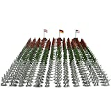 Military Figurine Set Soldiers Toy Package, 300 Pieces Army Men Playset