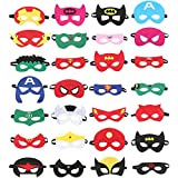 Superhero Masks 28 Pieces, Superhero Party Supplies, Birthday Party Favors Half Masks for Children or Boys Aged 3+