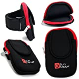 DURAGADGET Black & Red Neoprene Holder Multiple Pockets the AFX Firepower M01 / AFX Firepower M03