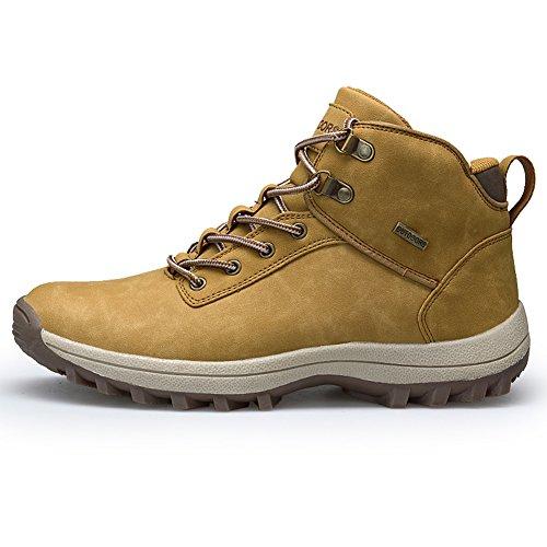 Uomo Escursionismo In Scarpe 38 Per Invernali Outdoor Nero Impermeabile Trekking Cachi Fexkean Da Stivali Marrone 46 Pelle USqzMpVG