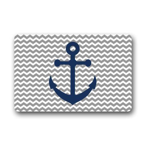 Blue Anchor Art Print Doormats Entrance Mat Floor Mat Door Mat Rug Indoor/Outdoor/Front Door/Bathroom Mats