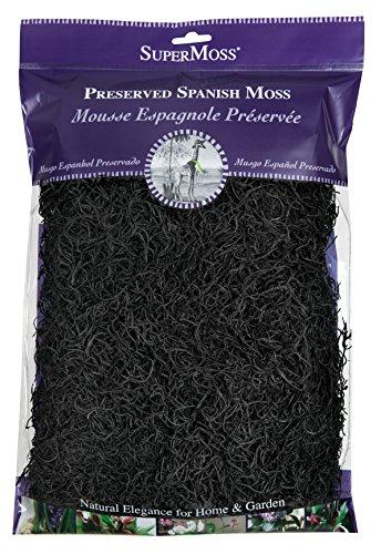 SuperMoss (26973) Spanish Moss Preserved, Black, 8oz (Black And Spanish)