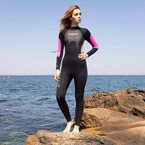 Allywit Wetsuits Women 3MM Neoprene Scuba Surfing Diving One Piece Sport Skin Spearfishing Full Suit Black by Allywit (Image #1)