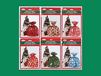 """Great New 2 Pack Of Giant Size Gift Bags 28"""" X 36"""" CHRISTMAS Santa!"""