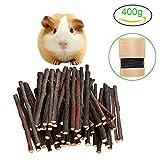 Malier 400g (14oz) Apple Sticks Pet Snacks Chew Toys for Guinea Pigs Chinchilla Squirrel Rabbits Parrot hamster degus gerbil