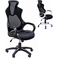 Viscologic High Back Super Mesh Office Chair Black with Black Fabric Seat ( YF 912-1)