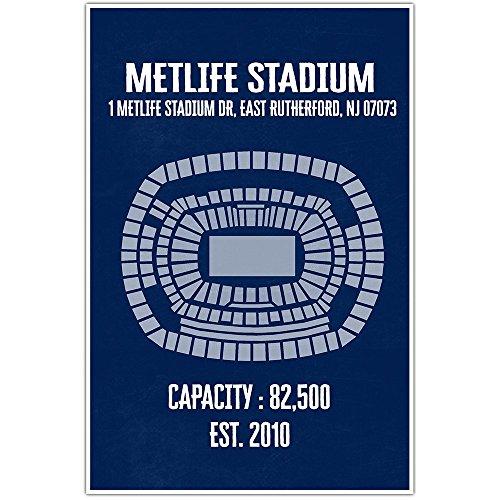 Metlife Stadium Wall Art Poster - Multiple Colors