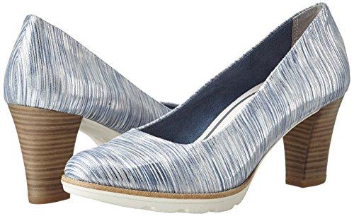 948 silver 22402 Mujer Zapatos De Comb Tacón Tamaris Para Plateado 4wzpqcv6
