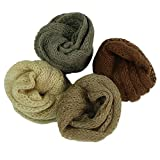 4 Pack Baby Photo Wraps 23.6 x 15.7 inch Boy Girl Photography Blanket Props Brown