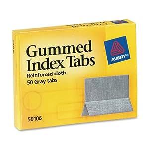 Avery Gummed Index Tabs, 50 Tabs (59106)