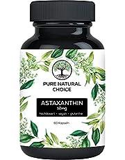 Pure Natural Choice Astaxanthin 12 mg veganistische, hooggedoseerde TÜV laboratorium-geteste kwaliteit, inclusief oxidatiebescherming, 60x capsules