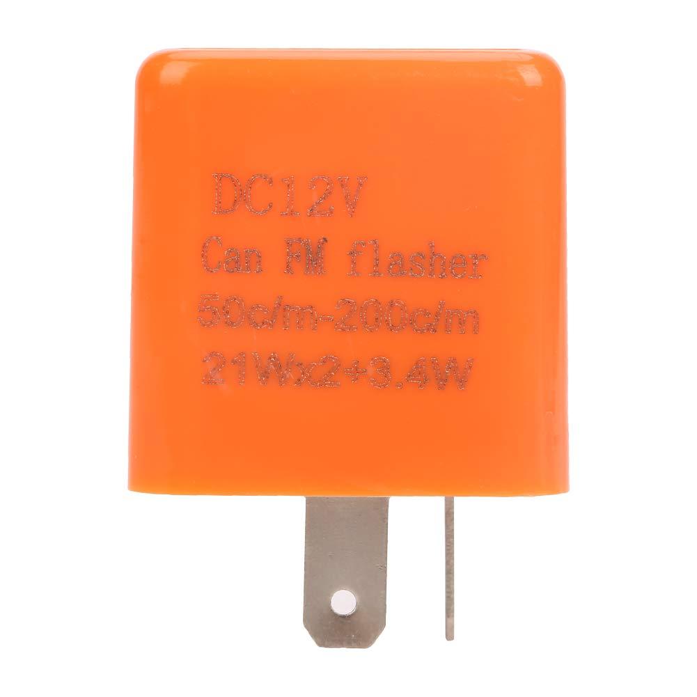 5 st/ücke Blinkrelais LED DC 12 v 2 Pin Einstellbare Elektronische Flasher Relay F/ür Motorrad Auto Gl/ühbirne Hyper Blinker
