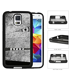 Mummy Peeking Through Bandage Grunge Rubber Silicone TPU Cell Phone Case Samsung Galaxy S5 SM-G900
