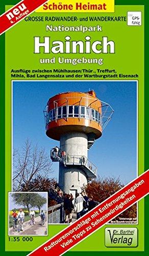 Große Radwander- und Wanderkarte Nationalpark Hainich und Umgebung: Ausflüge zwischen Mühlhausen/Thür., Treffurt, Mihla, Bad Langensalza und der Wartburgstadt Eisenach. 1:35000 (Schöne Heimat)