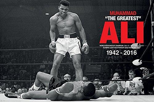 Empireposter Commemorative-Muhammad Ali-Ali v Liston; Size (cm): Approximately 91.5x 61cm-Poster-Description:-Photo Muhammad Ali Boxing Sport ()