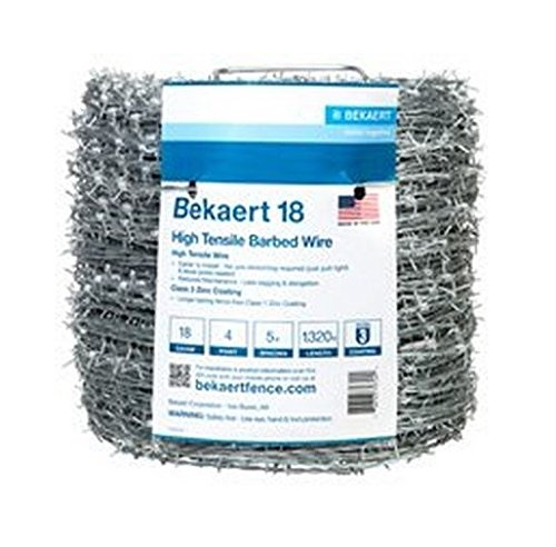 (Bekaert 118230/177495 4-Point Barbed Wire 1320 ft L 5 ft Barb Galvanized)