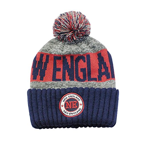 online store 629bc a23e8 ChoKoLids Football City Pom Beanie Premium Embroidered Patch Winter Soft  Thick Beanie Skully Hat