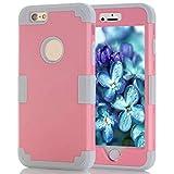 Landfox 6 Plus Case,iPhone 6 Plus Case, for iPhone6 Plus 5.5 Inch Hybrid Impact Shockproof Pattern Rubber Case (Pink)
