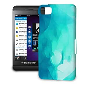 Phone Case For BlackBerry Z10 - Blue Abstract Watercolor Hardshell Lightweight