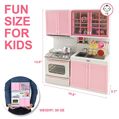 Toy kitchen set fun 28 pcs mini realistic kitchen for Funny kitchen set