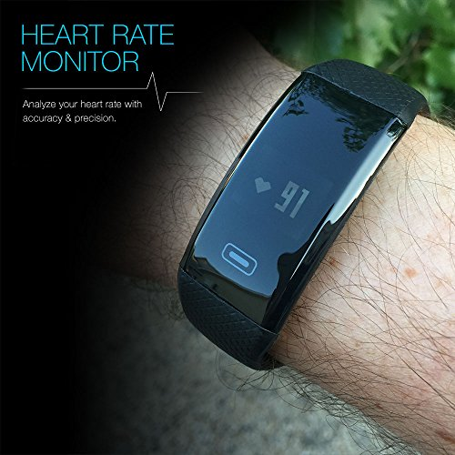 Smart Band: Heart Rate Blood Pressure Monitor Fitness Activity Sports Tracker Watch Calorie Step Sleep Counter Wireless Wristband Pedometer Oxygen Monitoring Exercise Tracking Bracelet Iphone Android