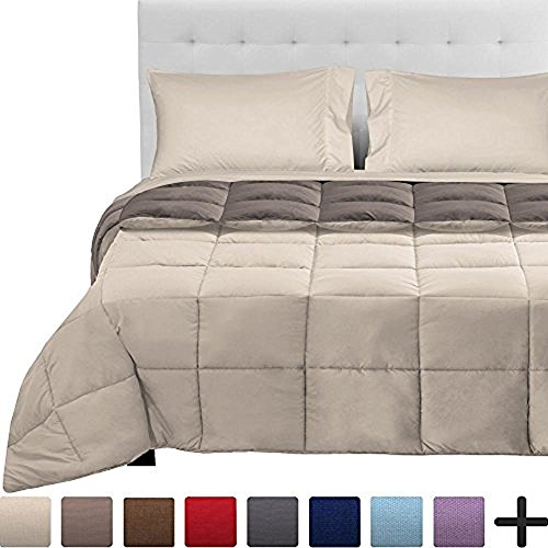 Mattress In A Bag (5-Piece Reversible Bed-In-A-Bag - Full XL (Comforter: Sand / Taupe, Sheet Set: Sand))