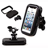 NOMSOCR Universal Bike Phone Holder with Waterproof Bag, Bicycle Handlebar Stroller Cell Phone Mount for iPhone 8 7 6S Plus 5 SE Samsung Galaxy S8 S7 Note 6, 4 to 6 Inch Android Smartphone (4.7 Inch)