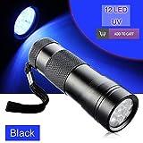 CALAP-STORE - Portable Mini Pocket 12 LED UV Ultra Violet Flashlight Torch 2 Modes Ultra Violet Lamp Light Aluminum Alloy Penlight Lanterna