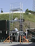 Aluminum Scaffold Rolling Tower 17' Standing Deck High with Guard Rail, Hatch door, U Locks, CBM1290