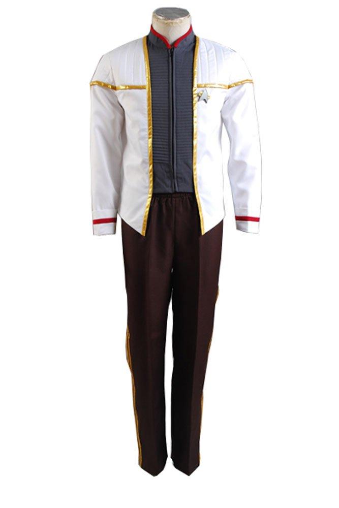 Weiß Maßanfertigung MingoTor Star Trek Insurrection NEM Nemesis Voyager Captain Siskoesis Weiß Mess Uniform Cosplay Kostüm Maßanfertigung