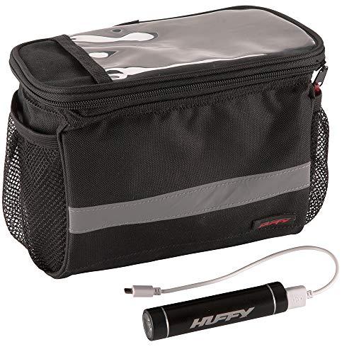 Huffy 00570XX Phone Charging Case & Handlebar Bag, Black