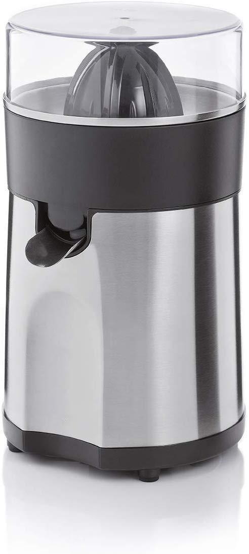 2 coni a pressione spremiagrumi elettrico 85 Watt filtro in acciaio INOX opaco Spremiagrumi salvagoccia