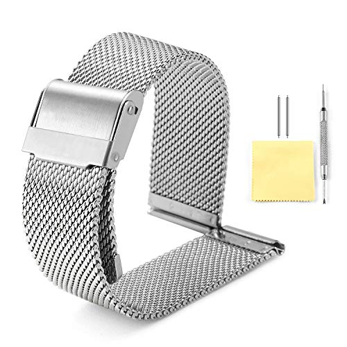 Band Watch Mm 10 (BINLUN Milanese Mesh Watch Band 4 Color(Gold,Sliver,Black,Rose Gold) 14 Size(8mm,10mm,12mm,13mm,14mm,15mm,16mm,17mm,18mm,19mm,20mm,21mm,22mm,24mm))