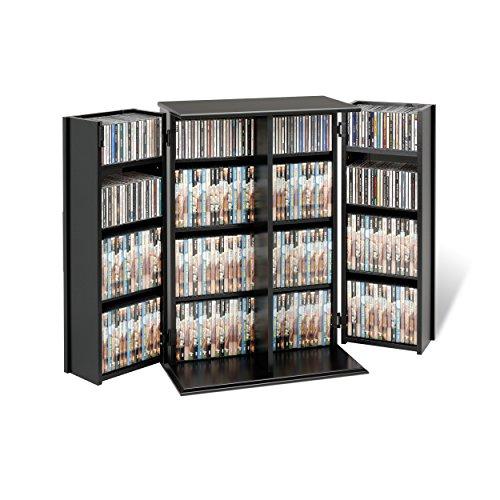 Prepac Locking Media Storage Cabinet with Shaker Doors Storage Cabinet, Black