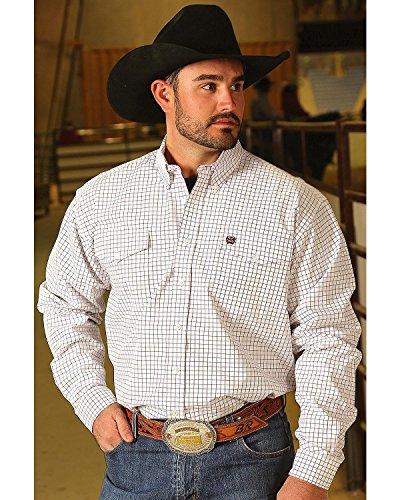 Cinch Men's White Checkered Western Shirt White (Checkered Western Shirt)