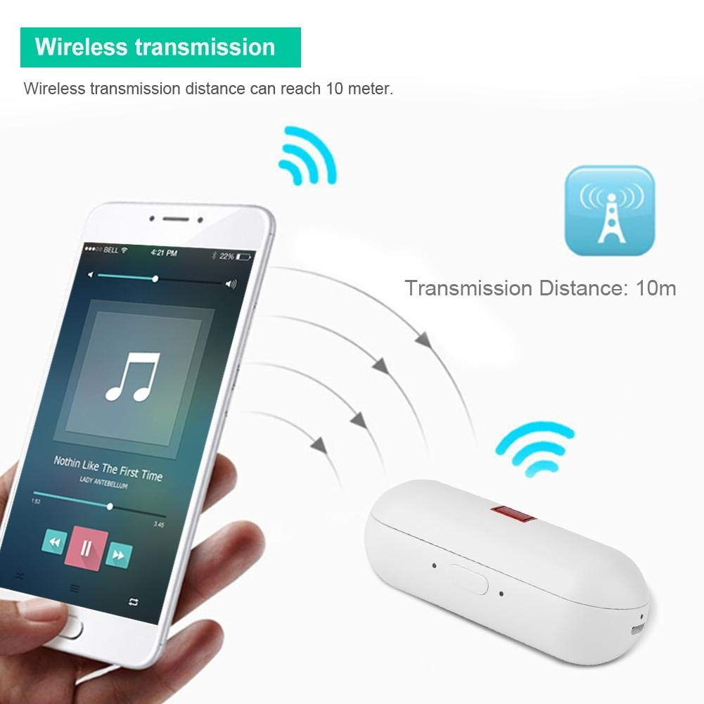 Translator Earbuds with Gift Charging Box,2 in 1 Bluetooth Headphone/ Real Time Wireless Language Translator Earphone Device Voice Translation Support 19 Languages Dual Mic & Noise Reduction(White) by fosa (Image #6)