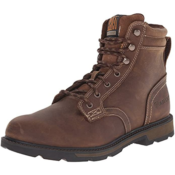"""Ariat Groundbreaker 6"""""""" Work Boot - Men's Safety Toe Lace-up Work Boot"""