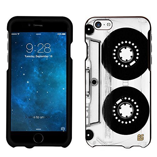 iPhone 6 Case, Spots8® Hard Plastic Slim Fit [Retro Tape Deck] Case Covers Compatible with iPhone 6 (AT&T/Verizon/Sprint/T-Mobile/Boost Mobile/US Celluar)
