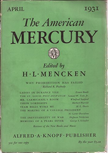 - The American Mercury: Volume XXII, Number 88: April 1931