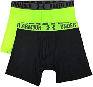temerario Nombrar Alboroto  Amazon.com : Under Armour Men's HeatGear 6'' Boxerjock 2 Pack : Clothing