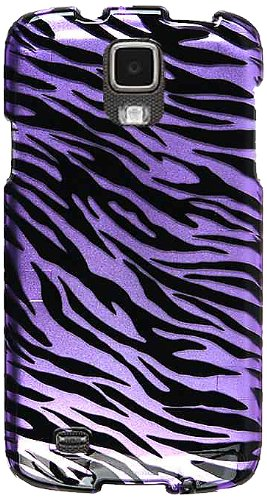 Cell Armor Active Snap-On Case for Samsung Galaxy S4 - Retail Packaging - Transparent Design/Purple Zebra