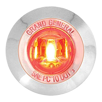"""GG Grand General 75223 1-1/4"""" Dual Function Mini LED Light with Chrome Plastic Bezel for Trucks, Towing, Trailers, ATVs, UTVs, RVs: Automotive"""